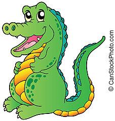 reputacja, krokodyl, rysunek