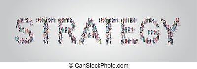 reputacja, płaski, zebranie, pojęcie, słowo, tłum, ludzie, pracownicy, różny, razem, strategia, zmieszać, formułować, prąd, współposiadanie, grupa, poziomy, pracownicy, okupacja