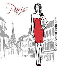 reputacja, paryż, kobieta