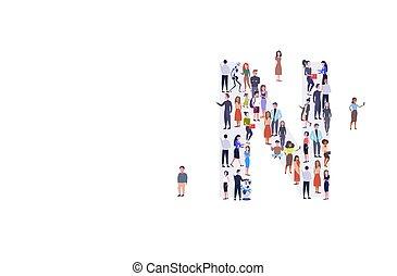 reputacja, prąd, zebranie, pojęcie, grupa, tłum, ludzie, alfabet, mężczyźni, businesspeople, razem, n, zmieszać, formułować, pełny, litera, angielski, długość, poziomy, przypadkowy, kobiety