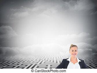 reputacja, siła robocza, biodra, kobieta interesu, blondynka