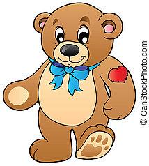 reputacja, sprytny, niedźwiedź, teddy