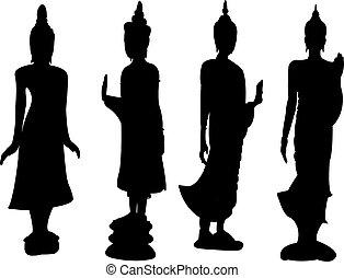 reputacja, thai, buddha.