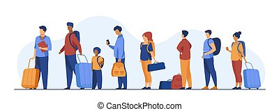 reputacja, turysta, grupa, bagaż, kreska