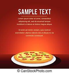 restauracja, jadło, menu, mocny, projektować, karta, pizza