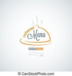 restauracja, jadło, menu, napój, wektor, tło