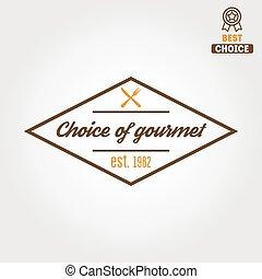 restauracja, odznaka, elementy, emblemat, logotype, bar, kawiarnia, albo, logo