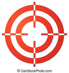 reticle, barwny, crosshair, marka, formułować, biały, tarcza