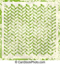 retro, wektor, greenery., tło, ilustracja, abstrakcyjny