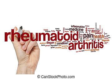 rheumatoid artretyzm, słowo, chmura