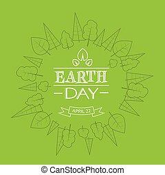roślina, kula, drzewo, rys, zielony, cienki, ziemia, świat, kreska, dzień