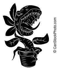 roślina, potwór