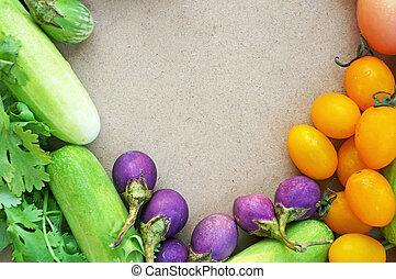 roślina, ułożyć, barwny