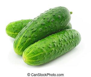roślina, zielony, owoc, ogórek, odizolowany