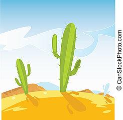 rośliny, kaktus, zachodnia pustynia