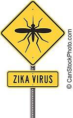 roadsign, wirus, zika