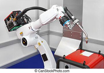 robot, spawalniczy