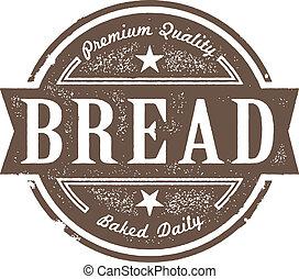 rocznik wina, etykieta, upieczony, świeży chleb