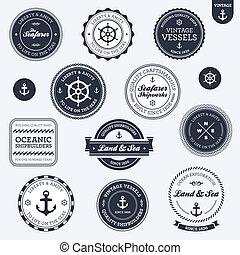 rocznik wina, etykiety, morski