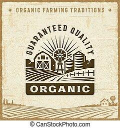 rocznik wina, guaranteed, organiczny, jakość, etykieta