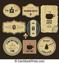 rocznik wina, kawa, etykiety, premia