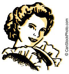 rocznik wina, portret ilustracji