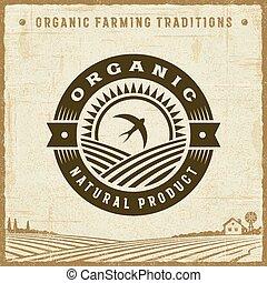 rocznik wina, produkt, organiczny, kasownik, etykieta