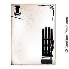rocznik wina, samiec, karta, rękawiczka