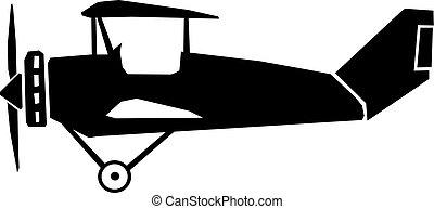 rocznik wina, samolot, widok budynku