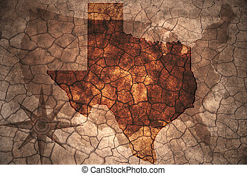 rocznik wina, stan, texas mapa