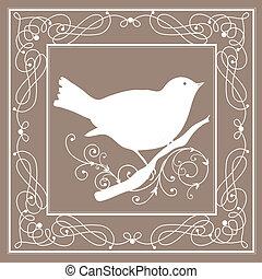 rocznik wina, ułożyć, ptak