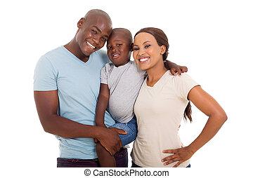 rodzina, afrykańska amerikanka, młody