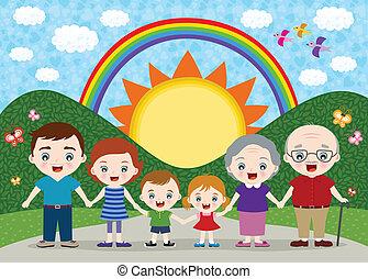 rodzina, ilustracja
