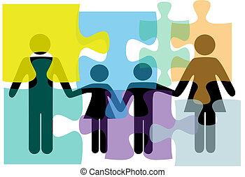 rodzina, ludzie, zagadka, rozłączenie, zdrowie, służby, problem