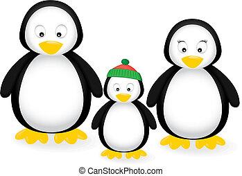 rodzina, pingwin
