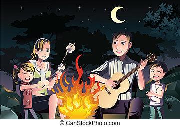 rodzina, posiadanie, ognisko