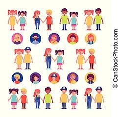rodzinna grupa, członki, litery