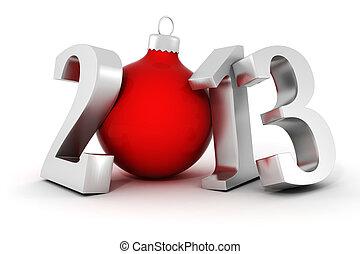 !, rok, nowy, szczęśliwy, 2013, 3d