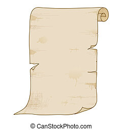 roll., papier, stary, wektor