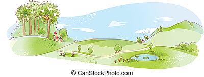 rolna scena