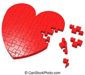 romans, serce, zagadka, niedokończony, widać