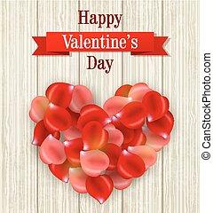 romantyk, karta, valentine