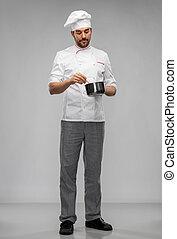 rondel, gotowanie, mistrz kucharski, tok, samiec, jadło