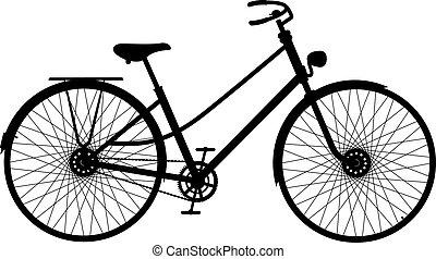 rower, sylwetka, retro