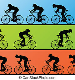 rowerzysta, zwycięzca, lider, tło