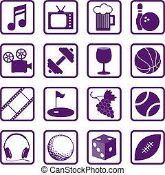 rozrywka, ikony