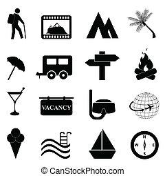 rozrywka, komplet, wolny czas, ikona