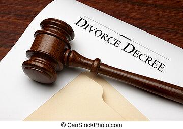 rozwód, dekret