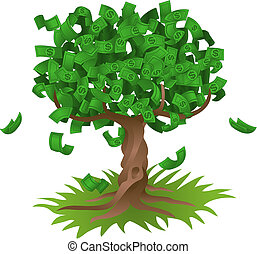 rozwój, drzewo pieniędzy