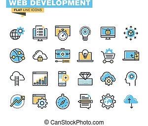 rozwój, ikony sieći